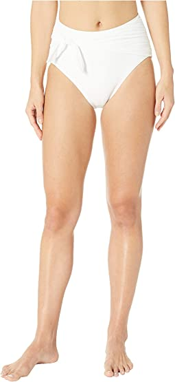 Grove Beach Tie High-Waisted Bikini Bottoms