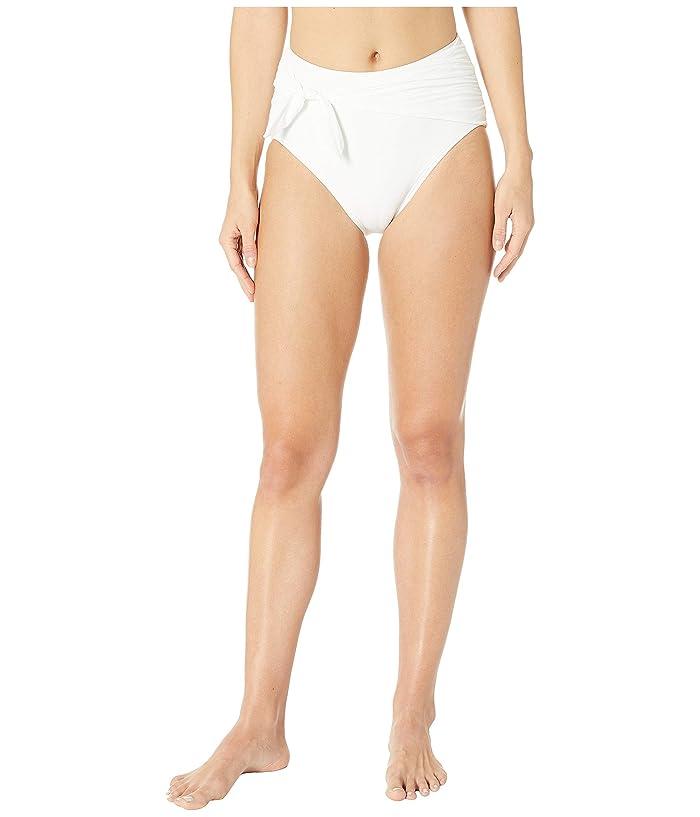 Kate Spade New York Grove Beach Tie High-Waisted Bikini Bottoms (Fresh White) Women