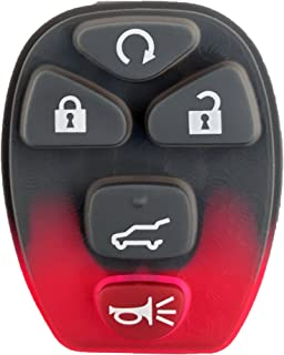 KeylessOption Keyless Entry Remote Control Key Fob Rubber Button Pad Cover Shell Repair Fix For OUC60270, OUC60221
