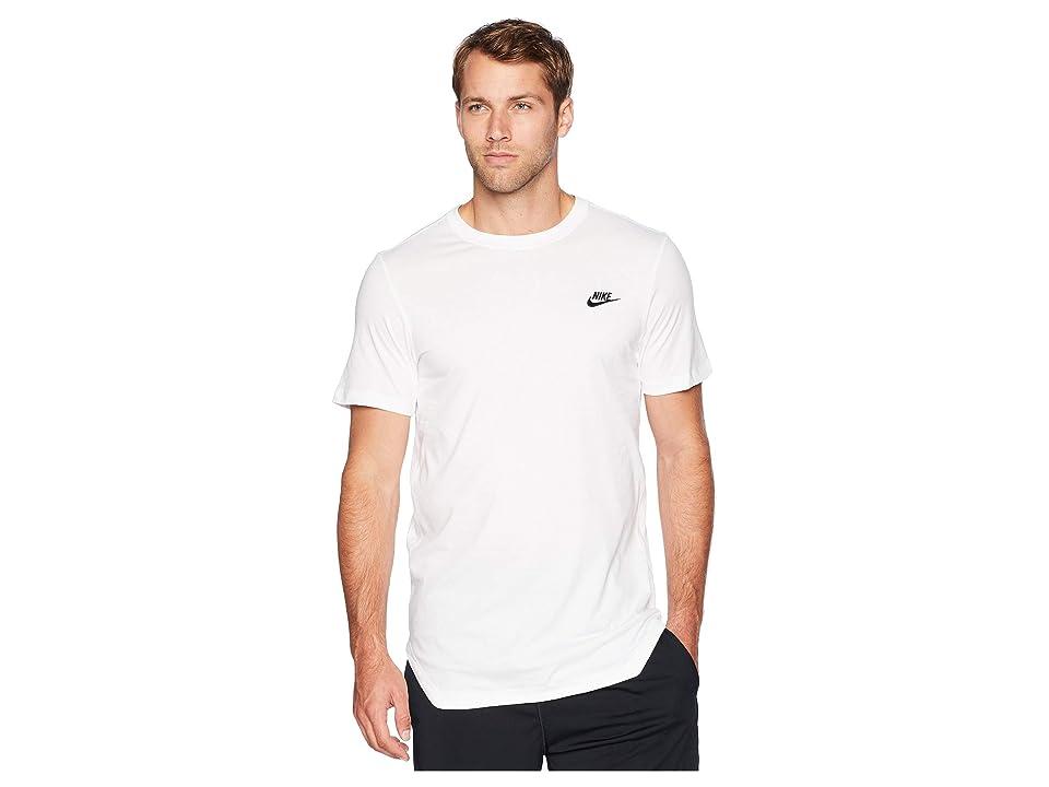 Nike NSW Tee Alt Hem Futura T-Shirt (White/Black) Men