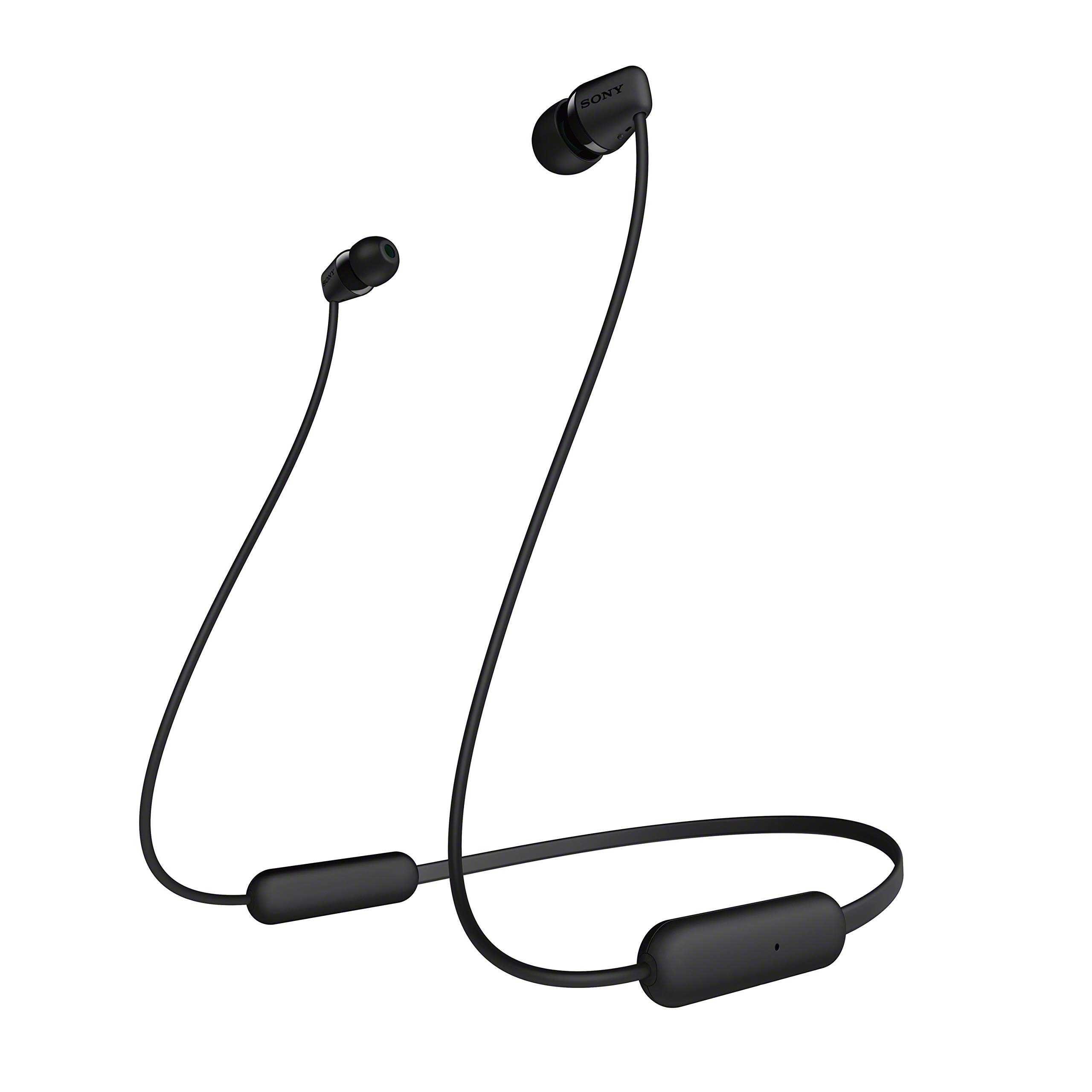 Amazon Com Sony Wi C200 Wireless In Ear Headset Headphones With Mic For Phone Call Black Wic200 B Electronics
