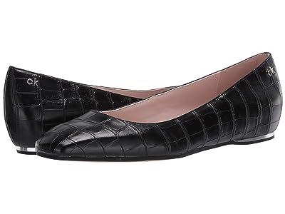 Calvin Klein Heidy (Black Croc Embossed) Women