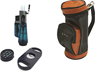 F.e.s.s. Fess Golf Gift Set Mini Golf Bag Humidor with Humidifier and Cutter
