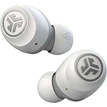 JLab Audio Go Air True Wireless Bluetooth Earbuds + Charging Case   Dual Connect   IP44 Sweat Resistance   Bluetooth 5.0 Connection   3 EQ Sound Settings: JLab Signature, Balanced, Bass Boost… (White)