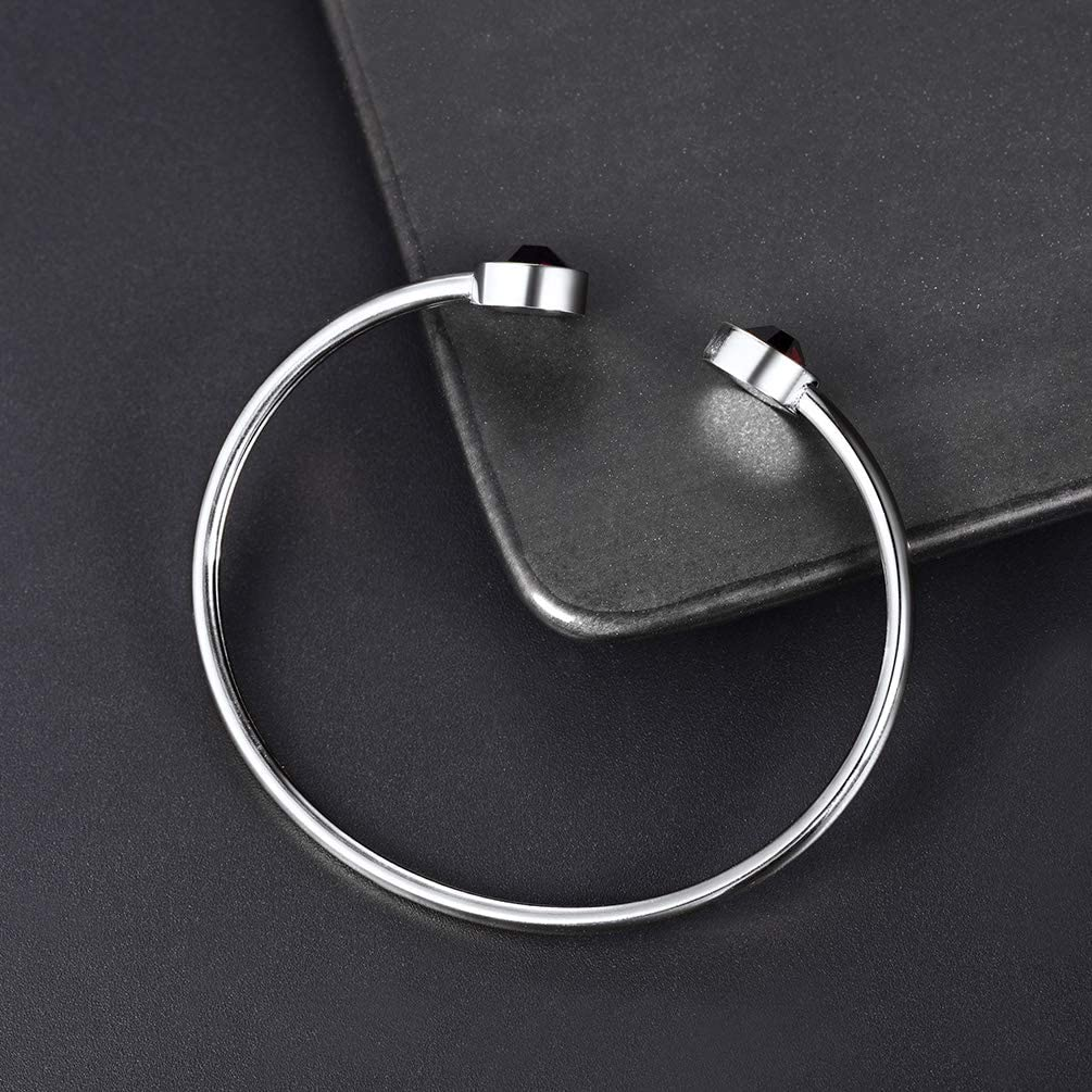 PROSTEEL Stainless Steel Birthstone Bracelet Jan - Dec Birthday Gift,Jewelry for Women,Girls,fit Wrist from 5.5''-7.6'' in Circumference, Come Gift Box