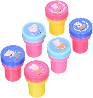 Amscan Peppa Pig Birthday Party Favor StamperPeppa Pig Birthday Party Favor Stamper,Multicolour,6Pieces