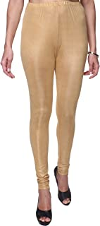 TRASA Shining Shimmer Lycra Churidar Leggings for Women's and Girls - Available Sizes -M, L, XL, 2XL, 3XL,4XL (Brand Outlet)