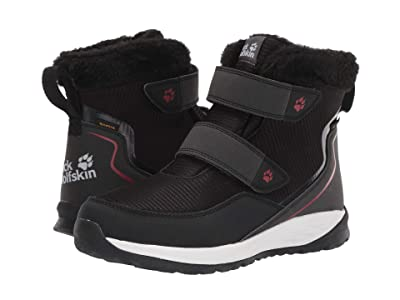 Jack Wolfskin Kids Polar Wolf Texapore Mid VC (Toddler/Little Kid/Big Kid) (Black/White) Girls Shoes