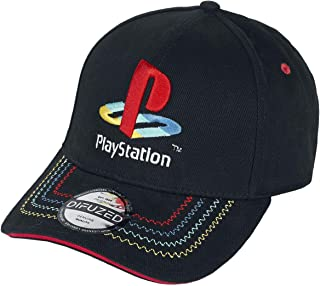 TRADE Casquette Playstation-Retro Gorra de béisbol, Black, Taille Unique Unisex Adulto