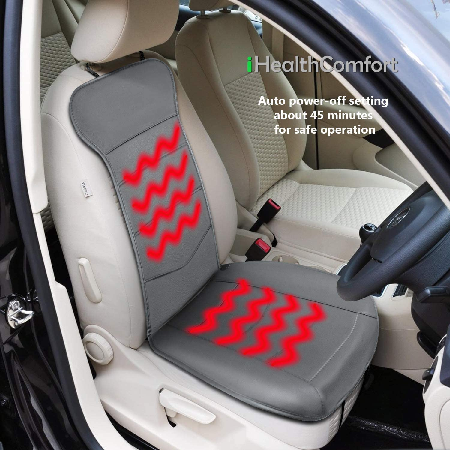 iHealthComfort Universal Car Max 77% OFF Seat Faux Breathable Cushion Very popular Cover