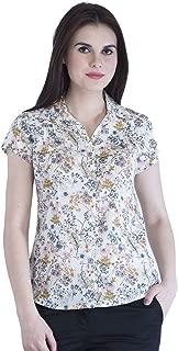 DJ & C By FBB Off-White Botanical Print Shirt