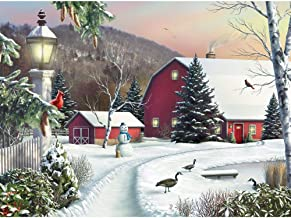"""Bits and Pieces - in The Still Light of Dawn 300 Piece Jigsaw Puzzles for Adults - Each Puzzle Measures 18"""" X 24"""" - 300 pc Jigsaws by Artist Alan Giana"""
