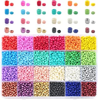 Nibiru Multicolor Opaque Glass Round Seed Beads Assorted Kit for Jewelry Crafting DIY Making (4mm 6000pcs)