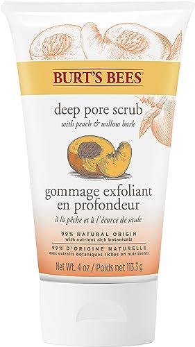 Burt's Bees Peach and Willowbark Deep Pore Scrub, 110g (packaging may vary)