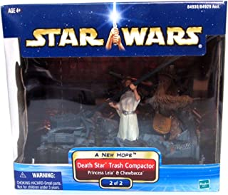 Hasbro Leia and Chewbacca Death Star Trash Compactor A New Hope Star Wars Diorama # 2