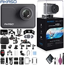 $140 » AKASO V50 Pro Native 4K30fps 20MP WiFi Action Camera Touch Screen Waterproof Support External Mic Sports Helmet Accessories - 64GB - 50 in 1 Go Pro Accessories - Action Camera Bike BAR/SEATPOST KIT