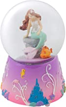 Elanze Designs Mermaid and Fish on Lilac Musical 80MM Water Globe Plays Tune by The Beautiful Sea