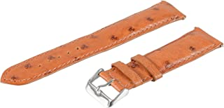 Leather Watch Strap, Genuine Ostrich Leather, 24-mm Tan, Regular Length