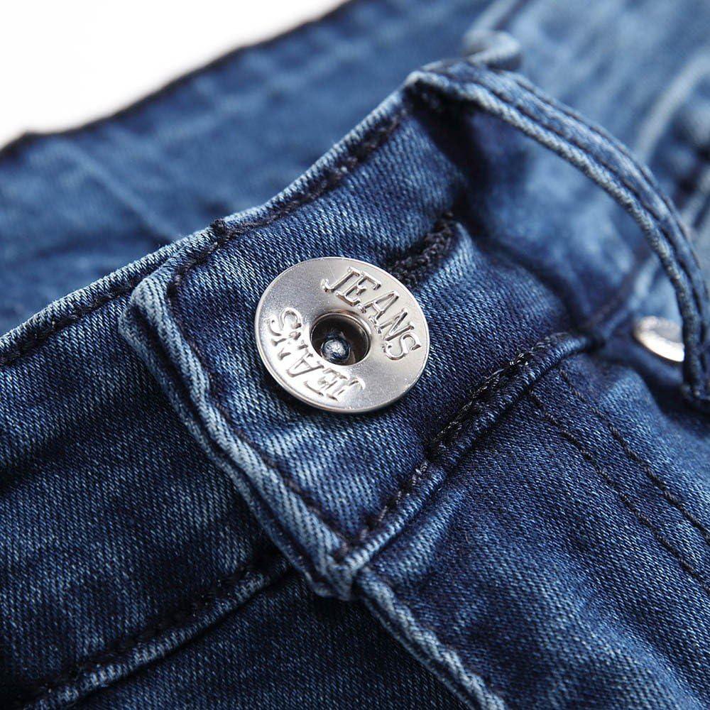 Strappati Jeans Casual Uomo Slim Fit Jeans Fori da Moto Slim Fit da Uomo Pantaloni in Denim con Cerniera per Jeans Pantaloni Skinny Lunghi Cargo Trousers Grigio Jeans