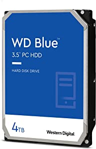 Western Digital 4TB WD Blue PC Hard Drive HDD - 5400 RPM, SATA 6 Gb/s, 256 MB Cache, 3.5