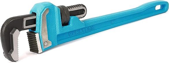 آچار لوله سنگین 18 اینچ DURATECH ، آچار لوله کشی قابل تنظیم ، دسته چدن قابل انعطاف ، استاندارد GGG بیش از حد