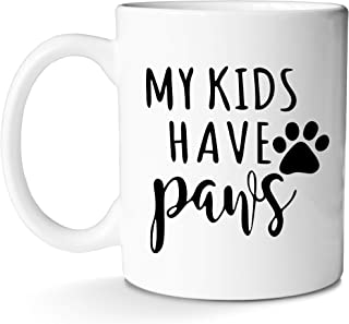 Dog Dad Cat Mom Mug for Coffee Best Women Crazy Funny AF Gifts Idea Ever For Lovers of Multiple Pets With Prime by Mugish 11oz