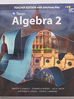 Texas, Algebra 2, Teacher Edition with Solutions Key, 9780544353954, 0544353951
