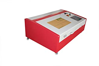 Upgraded Laser 40W CO2 Laser Engraver Cutting Machine Crafts Cutter USB Interface Air Exhaust Fan Laser Cutter with 4wheels