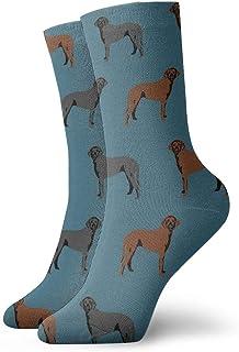Calcetines de algodón para hombre – calcetines de algodón para hombre – Rizado con revestimiento de recuperación liso 4 diseño Crew calcetines