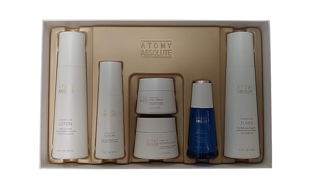 価値のない涙が出るバットAtomy(アトミ) エイソルー Absolute CellActive Skincare 6種 Set [並行輸入品]