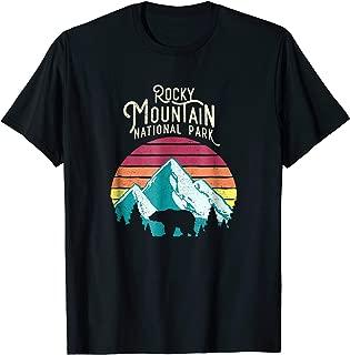 Retro Rocky Mountain National Park Colorado Bear T-Shirt