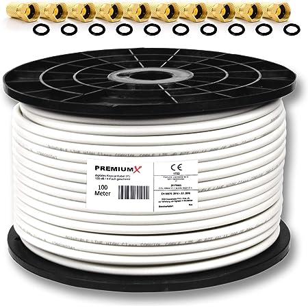 Premiumx 100m Koaxialkabel 135db 4 Fach Sat Elektronik