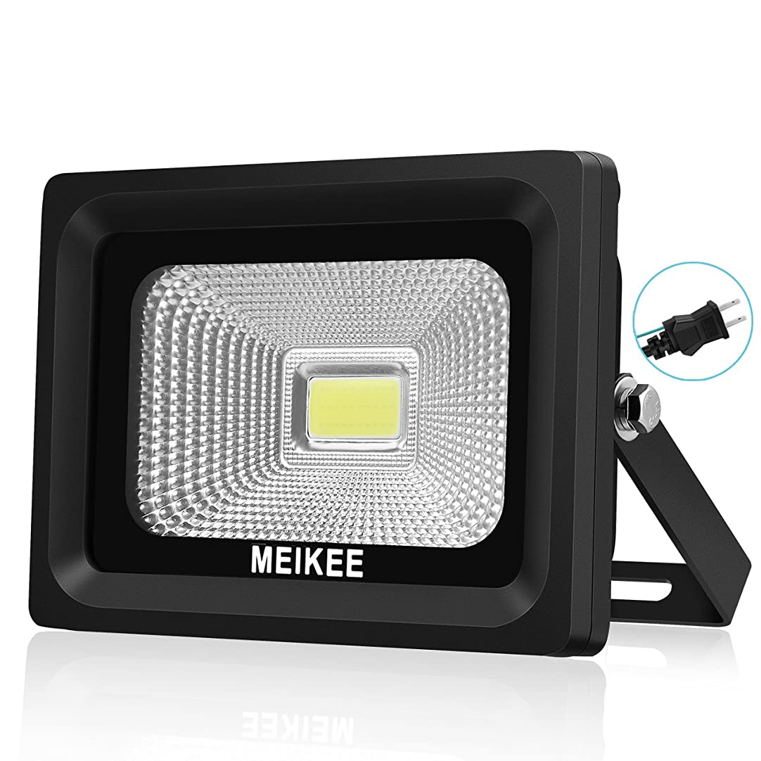 便宜約遊具MEIKEE 改良版 led 投光器10w 昼光色 作業灯 6000K 120度発光角度 防水加工 フラッドライト 看板灯 集魚灯 駐車場灯 ナイター 船舶