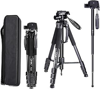 DMK T800 Tripod 70 inch/178cm 2 in 1 Tripod and Monopod Lightweight Portable Tripod for SLR/DSLR Cameras with tripod bag (...