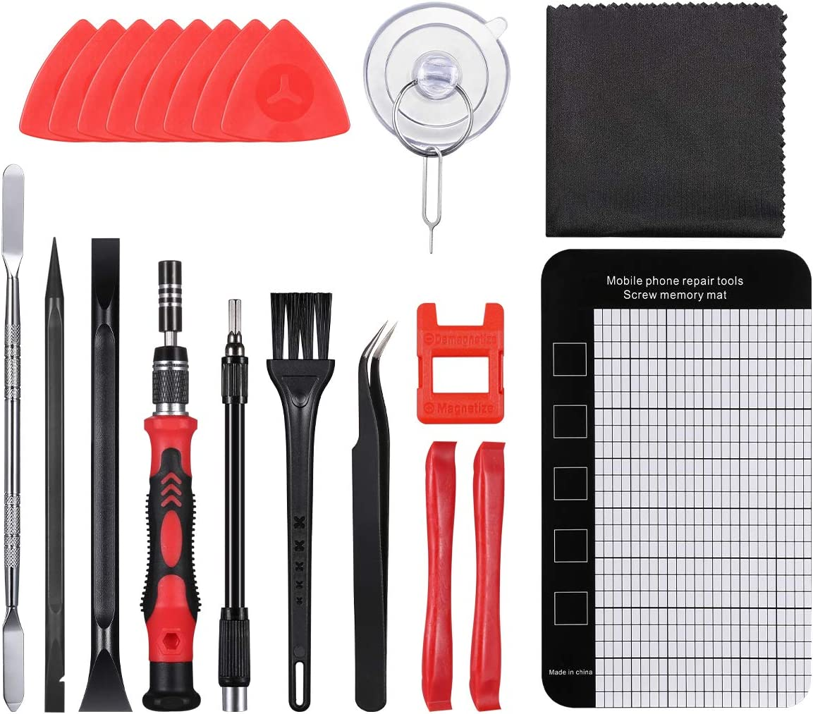 142 in 1 Precision Screwdriver Kit with 120 Screwdrivers Bits Watches ORIA Screwdriver Set Portable Bag for MacBook 2020 New Magnetic Repair Tools Red Laptop
