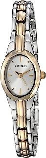 Armitron - Reloj de pulsera para mujer, diseño ovalado facetado de cristal en dos tonos