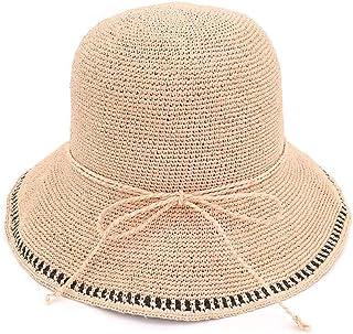 SHENTIANWEI Fashion Women Summer Hat Straw High-end Beach Hat Straw Dome Bucket Hat