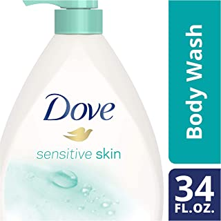Dove Body Wash Pump, Sensitive Skin, 34 oz