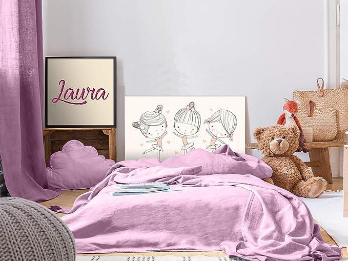 Cabecero Cama PVC Infantil Bailarina 100x60cm   Disponible en Varias Medidas   Cabecero Ligero, Elegante, Resistente y Económico