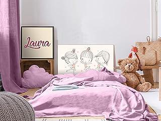 Cabecero Cama PVC Infantil Bailarina 100x60cm | Disponible en Varias Medidas | Cabecero Ligero, Elegante, Resistente y Económico