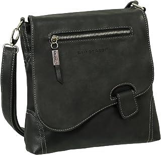 Ledershop24 Geschenkset - Handtasche Schultertasche Umhängetasche Wildleder-Imitat Used Look mit Riegelverschluss Farbe sc...