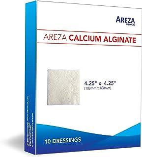 "Calcium Alginate 4.25"" x 4.25"" 10/Box (10 Wound Dressings per Box) One Box by Areza Medical"