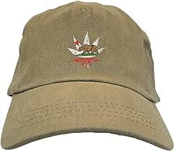 Cali Bear - Pot Leaf Cannabis Dad Hat