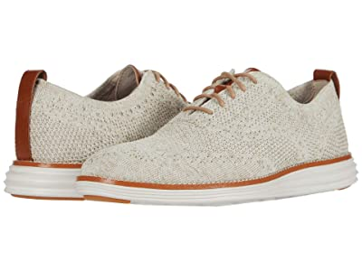 Cole Haan Original Grand Stitchlite Wing Tip Oxford (Birch/Amphora Knit/Pumice Stone) Men