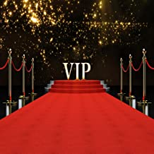 LYWYGG VIP Red Carpet Background 8x8ft Vinyl Photography Backdrop Customized Photo Background Studio Prop CP-45-0808