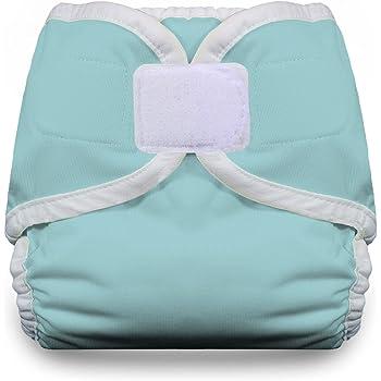 Thirsties Cloth Diaper Cover- Hook & Loop - Aqua - Medium