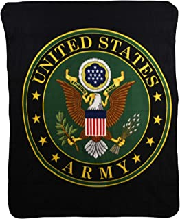 USA Armed Forces Super Soft Fleece Throw Blanket (United States Army)