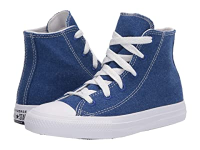 Converse Kids Chuck Taylor(r) All Star(r) Renew Cotton Hi (Little Kid) (Rush Blue/Natural/White) Kids Shoes