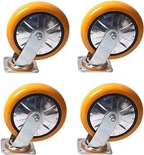 XINKONG 4 stks Meubelwielen Zware Polyurethaan Meubelwielen, Flatbed Truck Trolley Industrieel Wiel, Vervang Accessoires R...