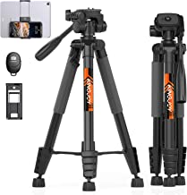 "KINGJOY 75"" Camera Tripod for Canon Nikon Lightweight Aluminum Travel DSLR Camera Stand with Carry Bag Universal Phone Mou..."